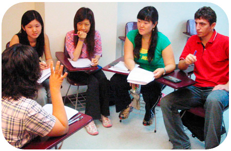 Foreigners studying English in the Philippines